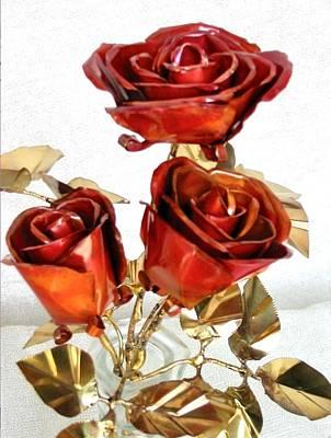 Copper Roses Original by Joy Gibat