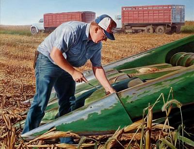 Corn Harvest Original by Hans Droog