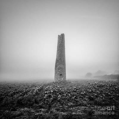 Mining Photograph - Cornish Mine Chimney by John Farnan