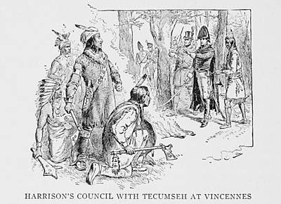 Council Of Vincennes Between General Print by Everett