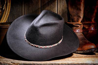 Cowboy Hat Print by Olivier Le Queinec