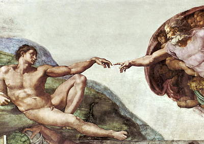 Creation Of Adam Print by Sheila Terry