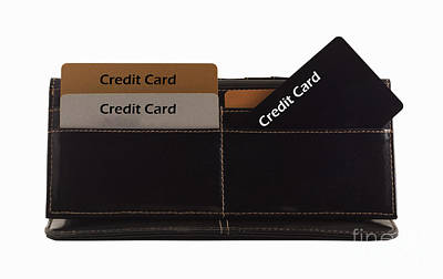 Credit Cards Print by Blink Images