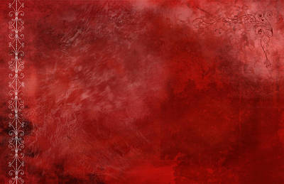 Abstract Painting - Crimson China by Christopher Gaston