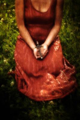 Contemplating Photograph - Crucifix by Joana Kruse