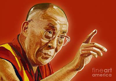 Dalai Lama Print by Setsiri Silapasuwanchai