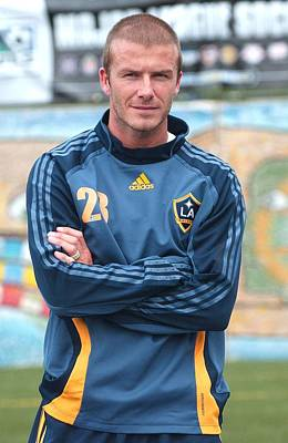Adidas Photograph - David Beckham On Location For David by Everett