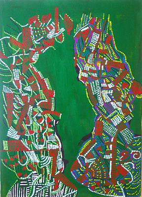 Dinka Painting - Dinka Marriage by Gloria Ssali