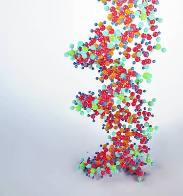 Dna Molecule, Artwork Print by Andrzej Wojcicki