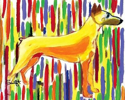 Dog Painting - Doberman Pinscher by Char Swift