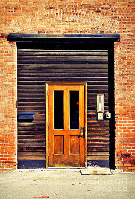 Brick Building Photograph - Door by HD Connelly