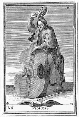 Double Bass Photograph - Double-bass Viol, 1723 by Granger