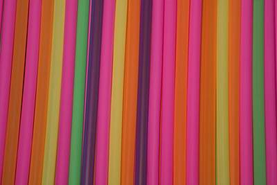 Drinking Straws Print by David Chapman