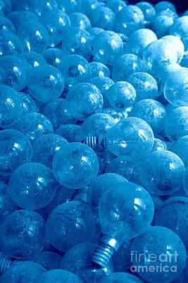 Blueish Photograph - Dusty Light Bulbs by Gaspar Avila