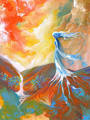Inner World Painting - Earth Angel by Valerie Graniou-Cook