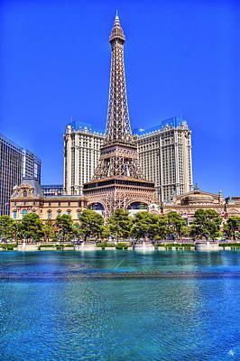 Eiffel Tower Las Vegas Print by Nicholas  Grunas