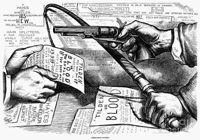 Election Cartoon, 1877 Print by Granger
