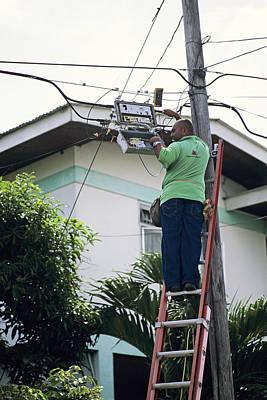 Electricity Maintenance Print by David Nunuk
