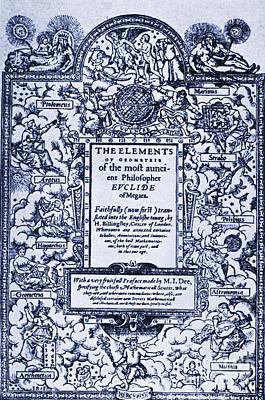 Elements Of Geometry, Frontispiece Print by Science Source