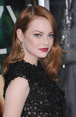 Emma Stone Wearing Fred Leighton Print by Everett