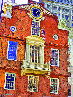 Grasshopper Digital Art - Faneuil Hall by Stephen Younts