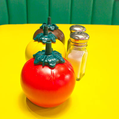 Ketchup Photograph - Fast Food Condiments by Tom Gowanlock