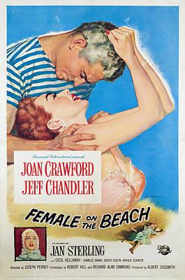 Female On The Beach, Jeff Chandler Print by Everett