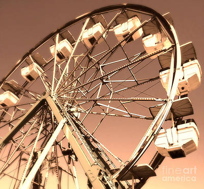 Ferris Wheel Print by Gregory Dyer