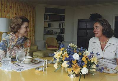 First Lady Betty Ford And Happy Print by Everett