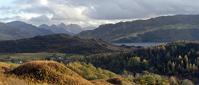 Five Sisters From Above Loch Alsh Print by Gary Eason