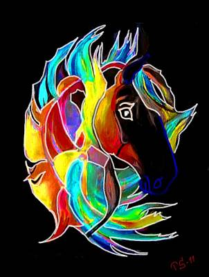 Flames I Print by Tarja Stegars