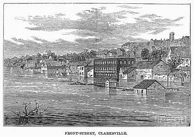 Clarksville Photograph - Flood: Clarksville, 1874 by Granger