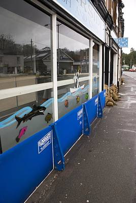 Flood Defences Print by Mark Williamson