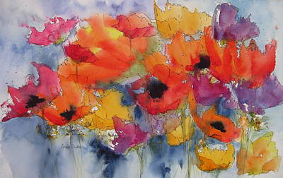 Poppies Field Painting - Floral Fantastic by Anne Duke