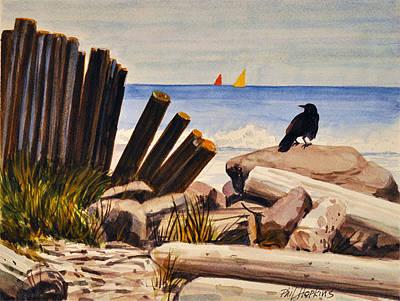 Phil Hopkins Painting - flotsam and Jetsam by Phil Hopkins