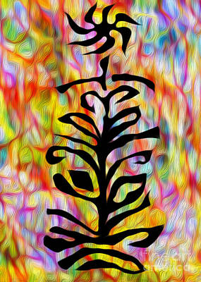 Flower Abstraction Print by Gregory Dyer