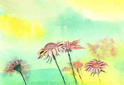 Christmas Holiday Scenery Painting - Flowers 2 by Anil Nene