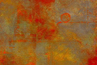 Worn Painting - Fluorescent Rust by Christopher Gaston