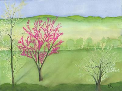 Bottomlands Painting - Foggy Bottomland by David Bartsch