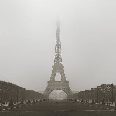 Foggy Morning In Paris Print by Metro DC Photography