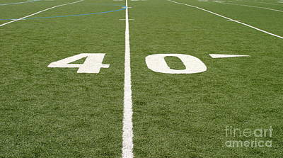 Turf Photograph - Football Field Forty by Henrik Lehnerer