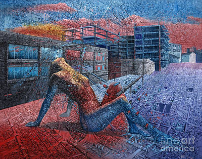 Landskape Painting - Fragment Expression by Bekim Mehovic