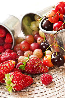 Juicy Strawberries Photograph - Fruits And Berries by Elena Elisseeva