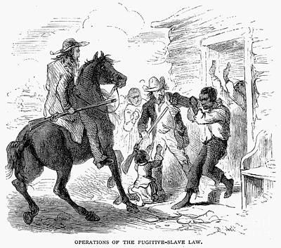 Fugitive Slave Act, 1850 Print by Granger