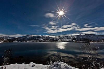 Full Moon Print by Frank Olsen
