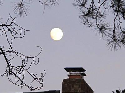 Full Moon Print by Valia Bradshaw