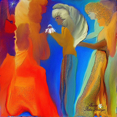 Gathering Of Angels Print by Sherri  Of Palm Springs