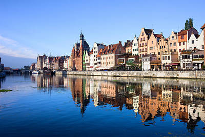 Danzig Photograph - Gdansk Old Town And Motlawa River by Artur Bogacki