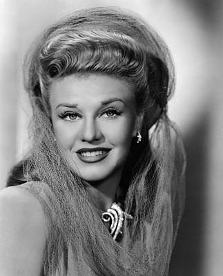 1940s Hairstyles Photograph - Ginger Rogers 1911-1995, American by Everett