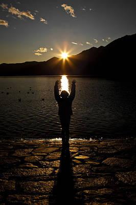 Ticino Photograph - Girl With Sunset by Joana Kruse